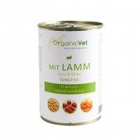Nassfutter OrganicVet sensitive Lamm mit Hirse & Kürbis