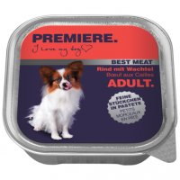Nassfutter Premiere Best Meat Adult Rind mit Wachtel