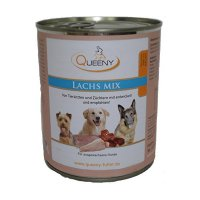 Nassfutter Queeny Hundefutter Lachs Mix