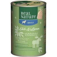 Nassfutter Real Nature Adult Special Edition: Elch & Lamm