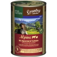 Nassfutter Real Nature Country Selection Alpine mit Alpenrind & Truthahn