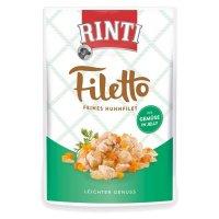Nassfutter RINTI Filetto in Jelly Frischebeutel Huhn & Gemüse
