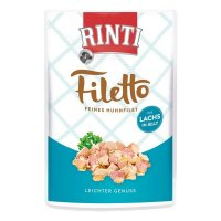 Nassfutter RINTI Filetto in Jelly Frischebeutel Huhn & Lachs