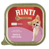 Nassfutter RINTI Gold mini Ente & Geflügel