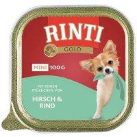 Nassfutter RINTI Gold Mini Hirsch & Rind