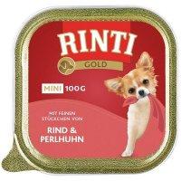 Nassfutter RINTI Gold mini Rind & Perlhuhn