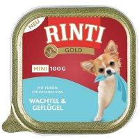 Nassfutter RINTI Gold Mini Wachtel & Geflügel
