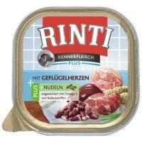 Nassfutter RINTI Kennerfleisch Geflügelherzen & Nudeln