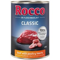 Nassfutter Rocco Classic Rind mit Geflügelherzen