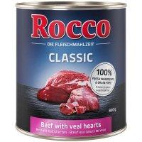 Nassfutter Rocco Classic Rind mit Kalbsherzen