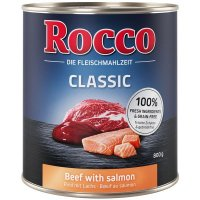 Nassfutter Rocco Classic Rind mit Seelachs