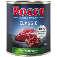Nassfutter Rocco Classic Rind mit Wild