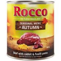 Nassfutter Rocco Herbst-Menü Rind mit Kaninchen & Spiralnudeln
