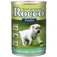 Nassfutter Rocco Junior Geflügel, Wild, Reis & Kalzium