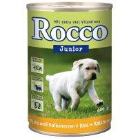 Nassfutter Rocco Junior Pute, Kalbsherzen, Reis & Kalzium