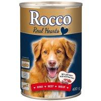 Nassfutter Rocco Real Hearts, Rind mit ganzen Hühnerherzen