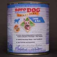 Nassfutter Ropodog Adult Sensi Plus Lamm + Reis