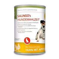 Nassfutter Salingo Bio Huhn mit Apfel, Kürbis & Zucchini