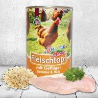 Nassfutter Schecker DOGREFORM Fleischtopf Junior-Menü mit Geflügel, Gemüse und Reis