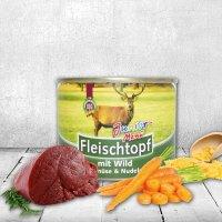 Nassfutter Schecker DOGREFORM Fleischtopf Junior-Menü mit Wild, Gemüse & Nudeln
