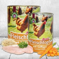 Nassfutter Schecker DOGREFORM Fleischtopf-Menü mit Geflügel, Gemüse & Reis