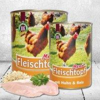 Nassfutter Schecker DOGREFORM Fleischtopf-Menü mit Huhn & Reis