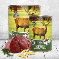 Nassfutter Schecker DOGREFORM Fleischtopf-Menü Wild, Nudeln Gemüse