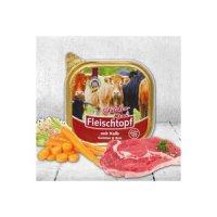 Nassfutter Schecker DOGREFORM Fleischtopf-Schälchen-Menü mit Kalbfleisch, Gemüse & Reis