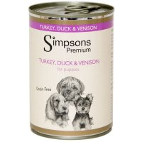 Nassfutter Simpsons Premium Turkey, Duck & Venison for puppies