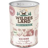 Nassfutter Wildes Land Bio Rind mit Kartoffeln