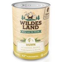Nassfutter Wildes Land Huhn mit Karotten, Zucchini, Wildkräutern und Distelöl