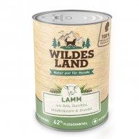 Nassfutter Wildes Land Lamm mit Reis, Zucchini, Wildkräutern und Distelöl