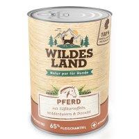 Nassfutter Wildes Land Pferd mit Süßkartoffeln, Wildkräutern und Distelöl