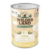 Nassfutter Wildes Land Puppy Huhn mit Karotte, Apfel und Wildkräutern