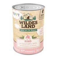 Nassfutter Wildes Land Puppy Rind mit Süßkartoffel, Apfel und Wildkräutern