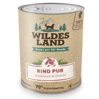 Nassfutter Wildes Land Rind PUR mit Distelöl