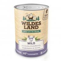 Nassfutter Wildes Land Wild mit Kürbis, Preiselbeeren, Wildkräutern und Distelöl