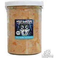 Nassfutter Wolfs Nature Rind, Nudeln & Karotten