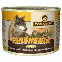 Nassfutter Wolfsblut Chickeria Hühner- & Truthahnfilet mit Banane & Mango