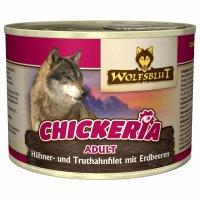 Nassfutter Wolfsblut Chickeria Hühner- und Truthahnfilet mit Erdbeeren
