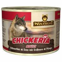 Nassfutter Wolfsblut Chickeria Hühnerfilet & Ente mit Erdbeere & Mango