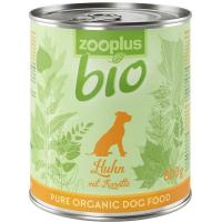 Nassfutter zooplus bio Huhn mit Karotte