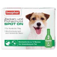 Pflege Beaphar Bio Spot On Tropfen für Hunde bis 15 kg