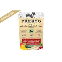 Rohfutter FRESCO Trockenbarf Pferd Senioren-Menü mit Petersilienwurzel, Mango und Johannisbeeren