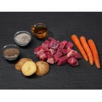 Rohfutter proCani Menü frisch & fertig Rind, Karotte und Kartoffel