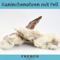 Snacks FRESCO Kaninchenohren mit Fell