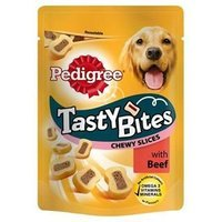 Snacks Pedigree Tasty Bites Chewy Slices with Beef