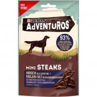 Snacks Purina Adventuros Mini Steaks mit Hirsch