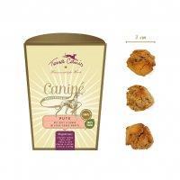 Snacks Terra Canis Canipé Classic, Pute mit Obst u. Hüttenkäse in einem Hirse-Kokos-Mantel