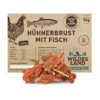Snacks Wildes Land Hühnerbrust mit Fisch